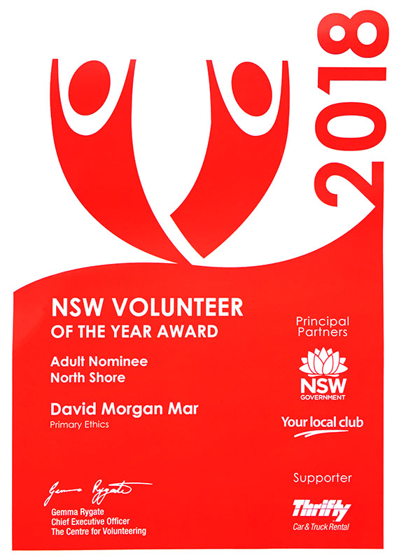 NSW Volunteer of the Year Award 2018