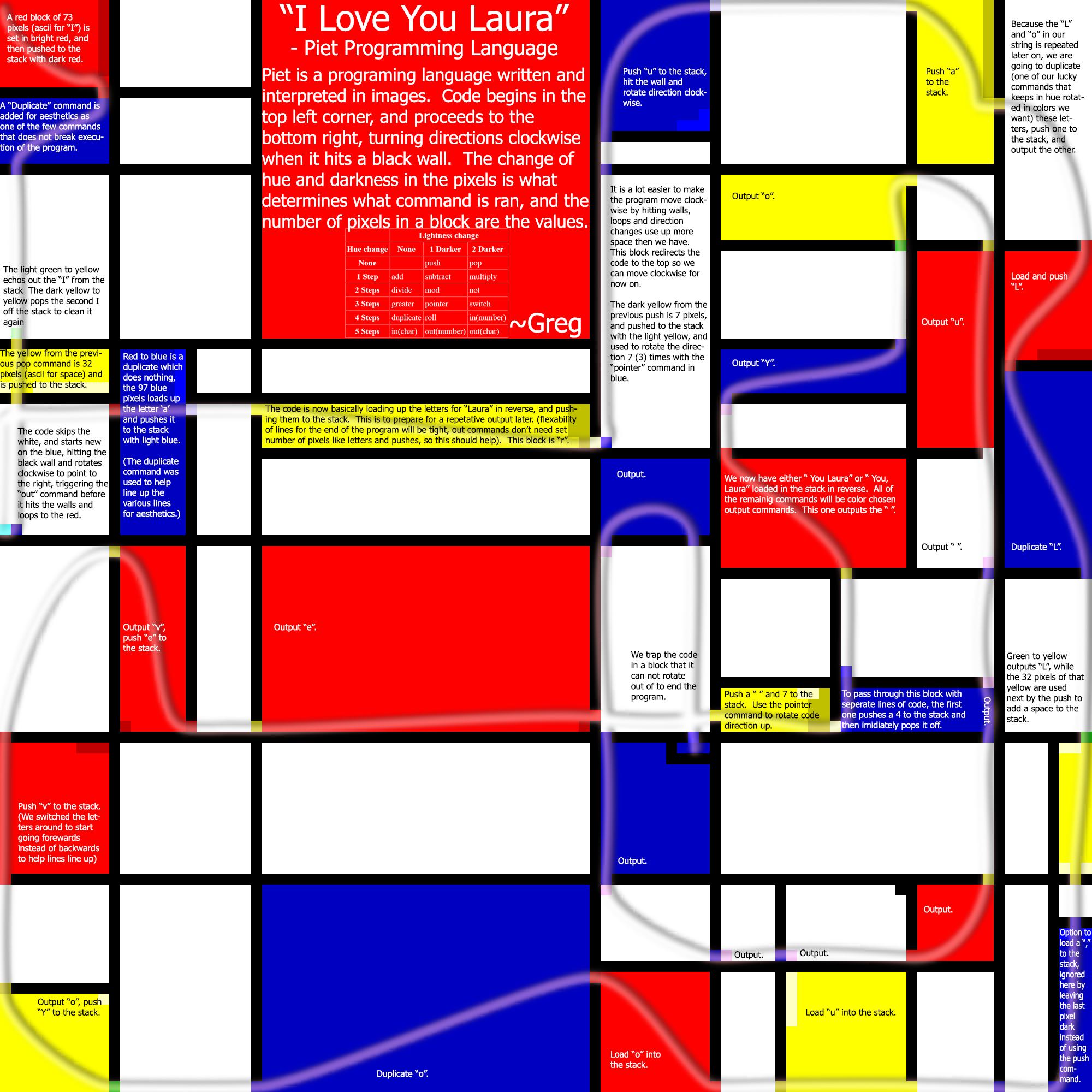 DM's Esoteric Programming Languages - Piet Samples